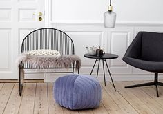 Discover how to transform your home with Nordic Interior Design Style using accessories for every room, from the bathroom to the bedroom, from Bloomingville Lounge Design, Pouf Design, Unique Furniture, Luxury Furniture, Nordic Interior Design, Scandi Home, Deco Design, Design Trends, Design Ideas