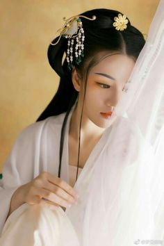 Silent beauty Asian face.