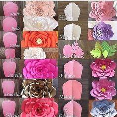 """Patrón de pétalos para cada flor"""""""