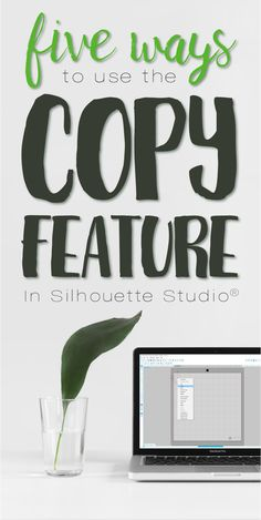 Five Ways To Use the Copy Feature In Silhouette Studio® Silhouette School, Silhouette Clip Art, Silhouette Cameo Machine, Silhouette Portrait, Silhouette Design, Silhouette Studio, Silhouette Cameo Tutorials, Silhouette Projects, Inkscape Tutorials