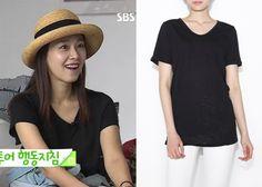 "Hong Soo-Hyun 홍수현 on ""Roommate"" Episode 11. Le Jiyu Round Pocket Shirt #Roommate 룸메이트 #HongSooHyun"