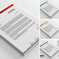 Awesome Letterhead Template, simple, clean and flexible. Available in PSD, AI and #MSWORD Versions. Download https://creativemarket.com/ThemeDevisers/787556-Corporate-Letterhead-Template