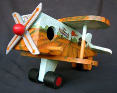 BIPLANE BIRDHOUSE With Hand Painted Air Station And by KrugsStudio, $49.99