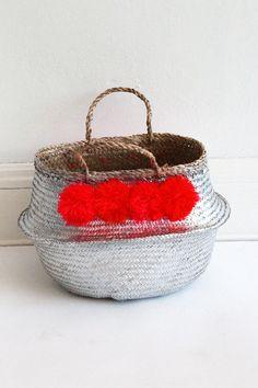 Eliza Gran Pom Pom Basket - Medium