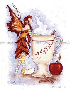 PRINTS-OPEN EDITION - Coffee and Tea Faery Prints - Amy Brown Fairy Art - The Official Gallery