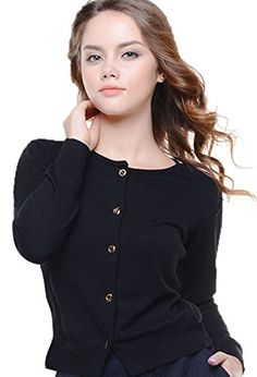 Knit&love Women Button Down Classic Long Sleeve Basic Soft Knit Cardigan Sweater (XL, Black) Knit&Love http://www.amazon.com/dp/B012Z8BKMQ/ref=cm_sw_r_pi_dp_QF.1wb105RDG0