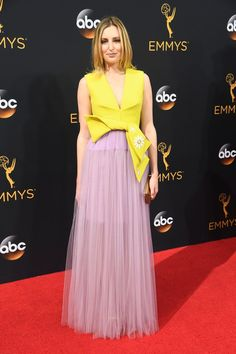 This Year's Emmys Red Carpet Is Proof Florals Never Go Out of Style or Season Laura Carmichael Laura wore a Delpozo dress.