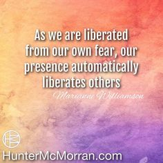 Be around others who will be liberated around you.