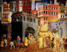 History of Art: Paintings that Changed the World Ambrogio Lorenzetti The Effects of Good and Bad Government in the Town Detail 1337-39 Palazzo Pubblico, Siena