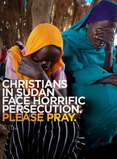Sudan is ramping up its persecution of Christians. Please pray for our Sudanese brothers and sisters in Christ.