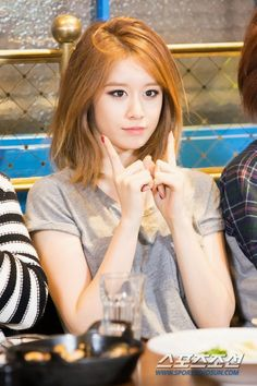 T-ara Jiyeon. She makes me wanna cut my hair!!!