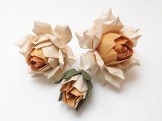 Origami Orange Roses