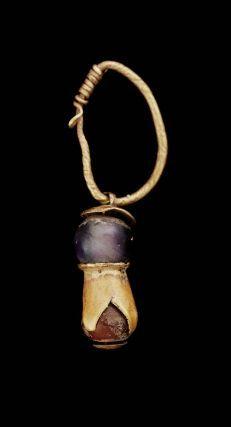 Gold and carnelian earring  Nubian, Meroitic Period, 270 B.C.–A.D. 320  Meroe, The Sudan