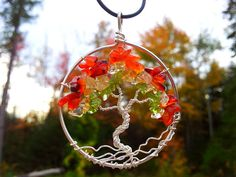Fall Tree of Life Pendant by MyCraftCrayze on Etsy