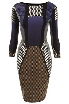 Geo Spot Bodycon Dress