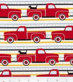 Novelty Quilt Fabric- Red Trucks & novelty quilt fabric at Joann.com