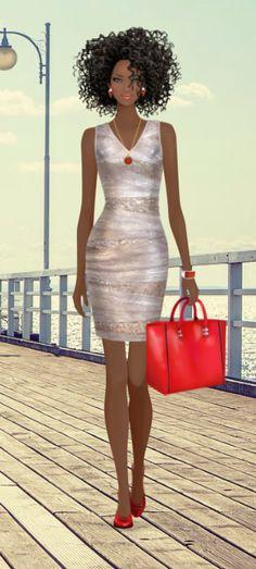 4 Factors to Consider when Shopping for African Fashion – Designer Fashion Tips Black Love Art, Black Girl Art, Black Girls Rock, Black Is Beautiful, Art Girl, Black Art Painting, Black Artwork, Covet Fashion, Fashion Art