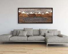 Chicago cityscape wood wall art made of old by CarpenterCraig