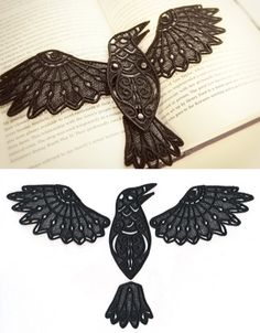 Soaring Raven (Lace) | Urban Threads: Unique and Awesome Embroidery Designs