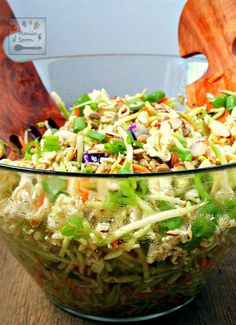Very easy and tasty salad to make - ramen noodles, almonds and sunflower seeds provide the crunch and the dressing is quite tasty. You can't go wrong with this Oriental (Asian) Coleslaw. Perfect for picnics and potlucks, or any gathering!