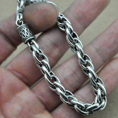 Men's Sterling Silver Rope Bracelet
