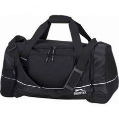 #PROMOTIONAL GIFT - Slazenger Travel Bag - Travel Bag with one main compartment, front zipper pocket and 2 zipped end pockets. Carry handle and adjustable shoulder strap