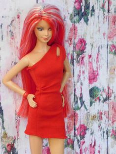 BARBIE-BASICS-COLLECTION-Red-Model-8-RED-DRESS
