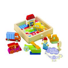 Quebra Cabeça Tridimensional Transportes, Quebra Cabeça Hape, Quebra Cabeça Sevi, Quebra Cabeça Plan Toys, Quebra Cabeça de Madeira, Brinquedos Educativos