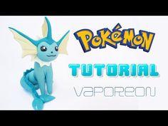 VAPOREON Pokemon Polymer Clay Tutorial / Porcelana Fría / Plastilina - YouTube