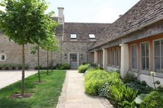 A Breath-Taking Barn Conversion in The Cotswolds, England :: This Is Glamorous Interior Design Work, Exterior Design, Barn Conversion Exterior, Barn Conversions, Converted Barn, Storybook Cottage, House By The Sea, Barn Lighting, Cool Pools