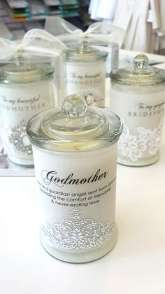 beautifully scented GODMOTHER candles ... gorgeous gifts that can be PERSONALISED Baptism Candle, Baptism Favors, Baptism Party, Baptism Ideas, Baby Christening Gifts, Baby Girl Baptism, Baby Boy Christening Decorations, Christening Balloons, Christening Dresses
