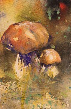 Mika Törönen Fungi, Illustration, Flowers, Painting, Leaves, Inspiration, Art, Biblical Inspiration, Art Background