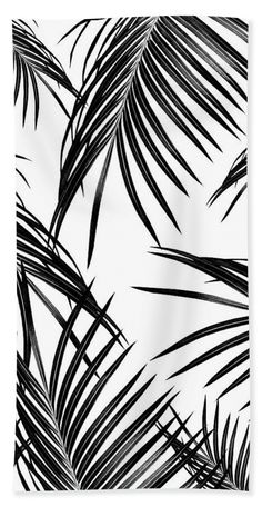 """Black Palm Leaves Dream #1 #tropical #decor #art Towel (Beach Towel (32"""" x 64"""")) by Anitas and Bellas Art. Our towels are great."""