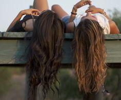 hanging out girly friendship photography summer hair friends vintage hipster brunette bestfriends sisters bff blondhair brownhair Best Friend Pictures, Best Friend Quotes, My Best Friend, Cute Sister Pictures, Hair Pictures, Just Girly Things, Girl Things, Random Things, Citations Swag