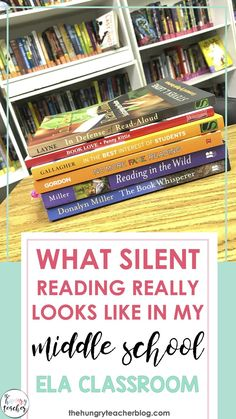 Ever wondered what silent reading or independent reading looks like in a middle school English language arts classroom. Come read 7th Grade Reading, Middle School Reading, Middle School English, Reading Time, Ela Classroom, Middle School Classroom, High School, Classroom Ideas, Reading Conference