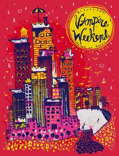 artistic indie music gig Posters | vampire weekend indie rock indie art music poster music