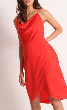 CDC Cowl Tulip Dress Tangerine