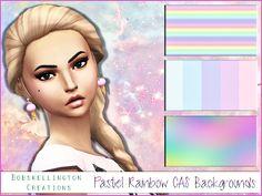 BobSkellington<3's ❣Pastel Rainbow CAS Backgrounds❣