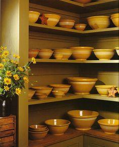Love the olive green shelves