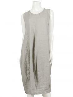 Damen Leinenkleid, taupe von Spaziodonna bei www.meinkleidchen.de