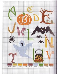 Alphabet Halloween pattern