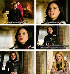 "Haha Regina's face! ""Erm.. Yeah because I'm the mayor..."""