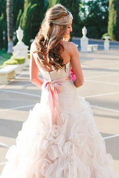 Allure blush wedding gown @weddingchicks