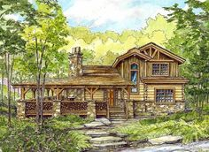Huge Wrap-Around Porch - 13318WW | 1st Floor Master Suite, CAD Available, Country, Exclusive, Loft, Log, Mountain, PDF, Vacation, Wrap Around Porch | Architectural Designs