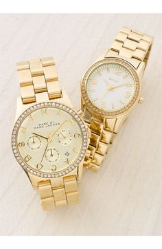 MARC BY MARC JACOBS 'Henry' Chronograph & Crystal Topring Watch, 40mm   Nordstrom $275
