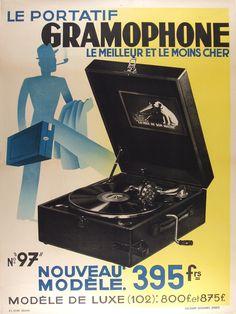 Vintage Advertising Posters   phonographs