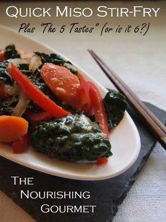 Quick Miso Vegetable Stir-Fry