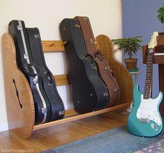 Wood Guitar Case Storage Rack – 'The Studio™ Deluxe' | GuitarStorage.com