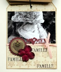 "Mini album ""Une famille en hiver"" ... - Le Scrap de Patmiaou Mini Album Scrapbook, Mini Albums Scrap, Christmas Mini Albums, Christmas Minis, Scrapbooking, Stampin Up, Creative, Mini Mini, Frame"