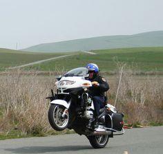 California Highway Patrol  BMW & Wheelie by lapd5150policemotor*, via Flickr